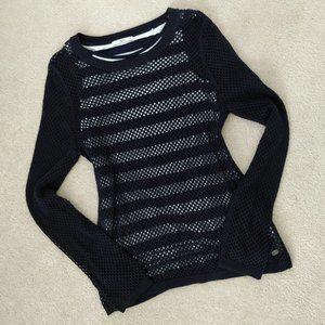 ✨ESPRIT Navy Blue Layered Knit Sweater Sz XS